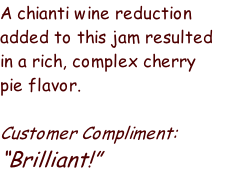 A chianti wine reduction